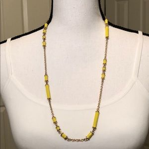 Jewelry - FREE with purchase/Long Yellow Necklace
